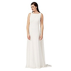 Ben De Lisi Occasion - Ivory peony pleated bridal dress