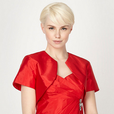 Debut - Red short sleeved shantung bolero