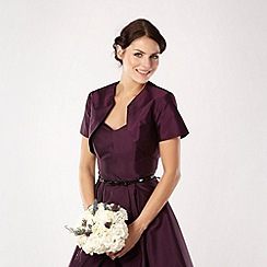 Debut - Dark purple shantung bolero