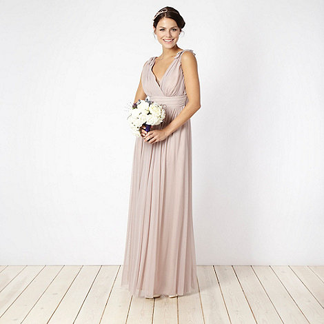 Debut - Rose ruched bust maxi dress