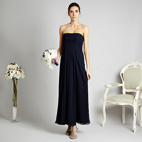 Debut - Navy chiffon twist bandeau dress