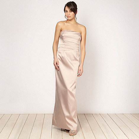 Debut - Light gold layered bodice maxi dress
