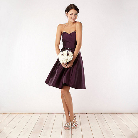 Debut - Purple bandeau necked prom dress