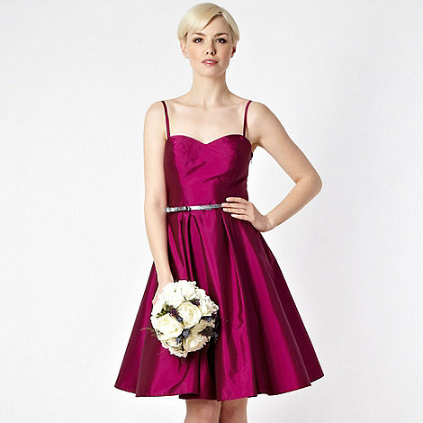 Debut - Dark pink belted prom dress