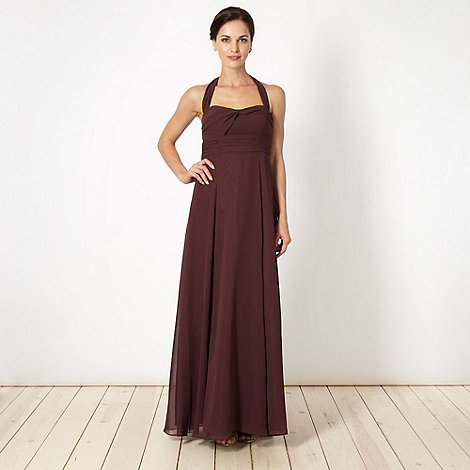 Debut - Mauve cross over bust maxi dress