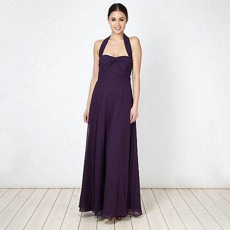 Debut - Dark purple cross over bust maxi dress