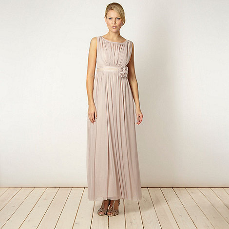 Debut - Rose mesh corsage maxi dress