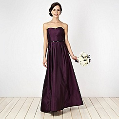 Debut - Dark purple taffeta bandeau ball gown
