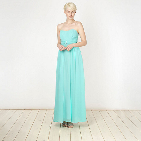 Debut - Turquoise diamante buckled maxi dress