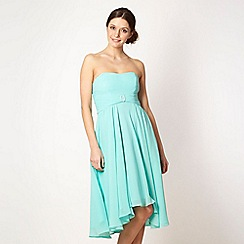 Debut - Turquoise bridesmaid bandeau dress