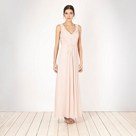 Debut - Light pink pleated bust maxi dress