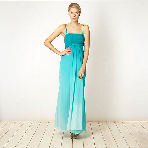 Debut - Aqua graduated bandeau maxi dress