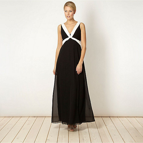 Debut - Black cross front maxi dress