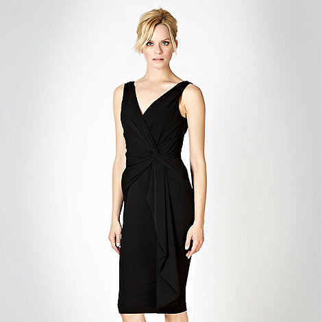 Debut - Black knot detailed jersey dress