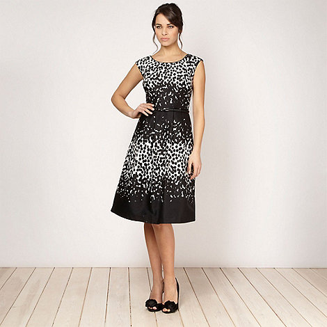 Debut - Black monochrome spotted prom dress