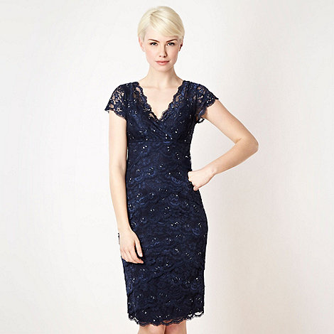 Debut - Dark blue lace and sequin dress