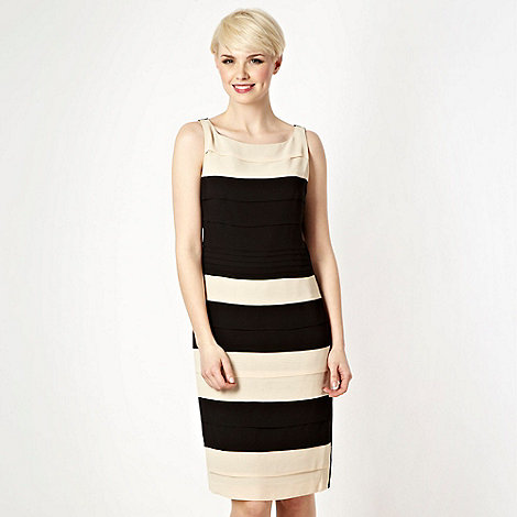 Debut - Black tiered colour block shift cocktail dress