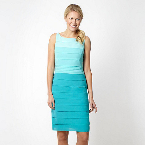 Debut - Aqua graduating tiered shift dress