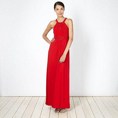 No. 1 Jenny Packham - Designer red embellished high neck maxi dress