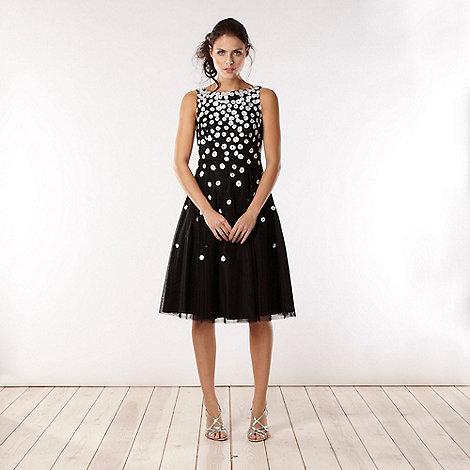 No. 1 Jenny Packham - Designer black embellished mesh prom dress