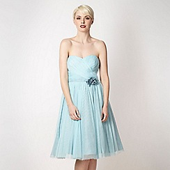 No. 1 Jenny Packham - Pale blue mesh corsage prom dress