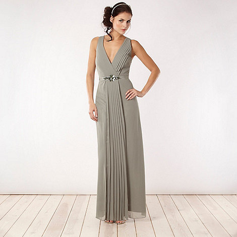 No. 1 Jenny Packham - Designer light green embellished waist dress