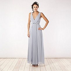 No. 1 Jenny Packham - Designer pale blue embellished waist dress