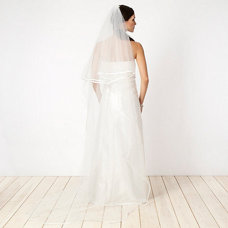 Debut - Ivory ribbon trimmed veil