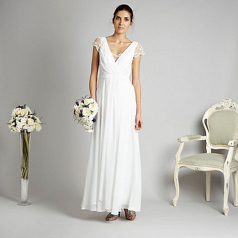 Debut - Ivory lace back gown