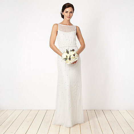 Debut - Cream embellished lace bridal gown