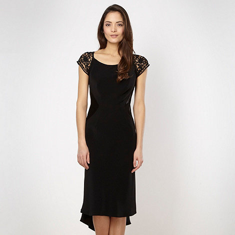Pearce II Fionda - Designer black embellished cowl dress