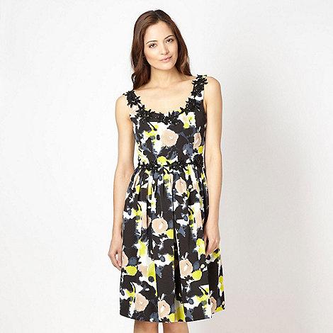 Principles by Ben de Lisi - Designer black abstract floral prom dress