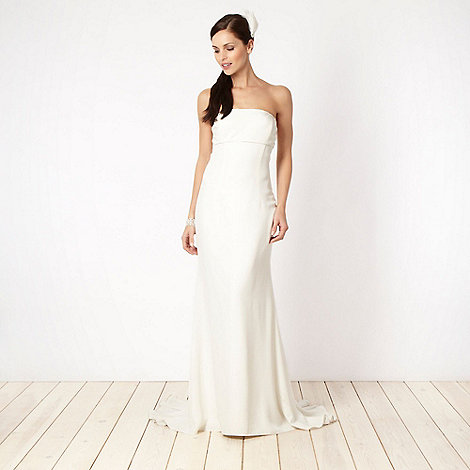 Principles by Ben de Lisi - Cream bead embellished bandeau bridal gown