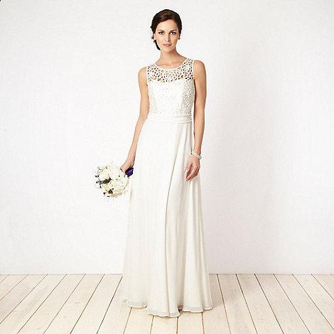 Principles by Ben de Lisi - Designer cream cutout lace bridal gown