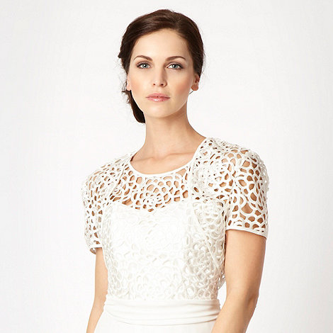 Principles by Ben de Lisi - Cream cutout lace cover up