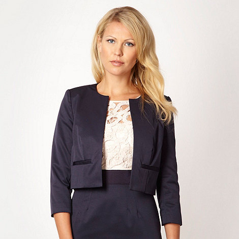 Debut - Dark blue collarless jacket