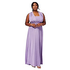 Debut - Purple multiway plus size full length evening dress
