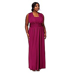 Debut - Pink multiway plus size evening dress