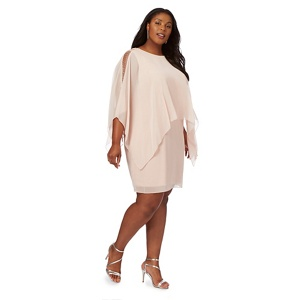 Debut Light pink 'Thana' plus size shift dress