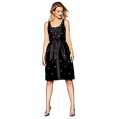 Debut - Black embellished knee length prom dress