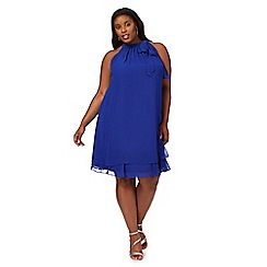 Debut - Bright blue 'Elsa' plus size shift dress