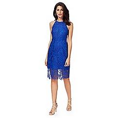 Debut - Blue lace 'Briony' pencil dress
