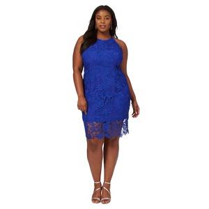 Debut Blue lace 'Briony' plus size pencil dress