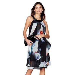 Debut Multi-coloured floral print shift dress