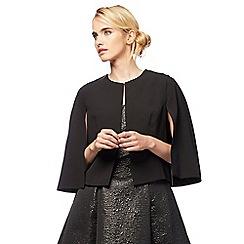Debut - Black 'Joanna' plus size cape jacket