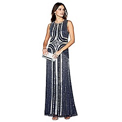 No. 1 Jenny Packham - Navy embellished evening dress