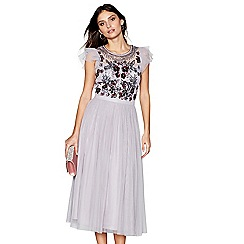 No. 1 Jenny Packham - Lilac sequin mesh 'Portobello' sleeveless midi dress