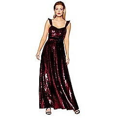 No. 1 Jenny Packham - Plum sequinned evening dress