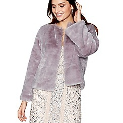 No. 1 Jenny Packham - Lilac 'Fiona' faux fur jacket