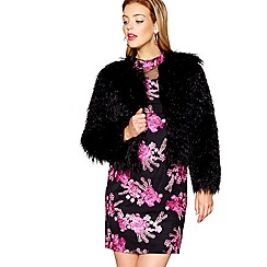 Butterfly by Matthew Williamson - Black faux fur jacket